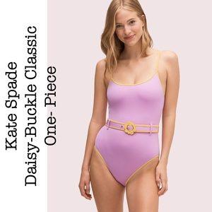 Kate Spade Daisy-Buckle One Piece Swimsuit